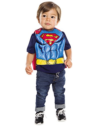 Rubie's Baby DC Comics Superman Bib With Removable Cape, As Shown, One Size
