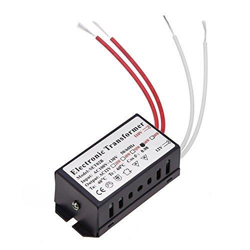 Whitelotous 110V to 12V Crystal Halogen Lamp Electronic Transformer Power Supply