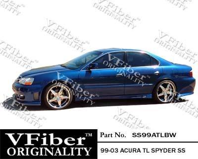 1999-2003 Acura TL 4dr Body Kit Spyder Side Skirt