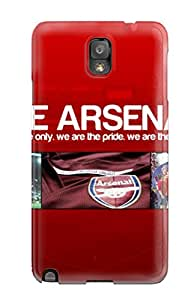 Galaxy Note 3 Hard Back With Bumper Silicone Gel Tpu Case Cover Arsenal Facebook Cover