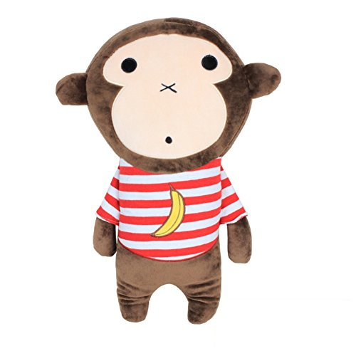 Apomelo Cute Monkey Car Seat Belt Pillow for Kids Adjustable Seat Strap Shoulder Pads,Neck Support Pillow for Travel Seatbelt Buddy Seat Pets, Banana Monkey