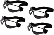 Set 4 Basketball Dribbling Glasses Goggles Dribble Specs - One Size Fits All