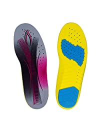 MagiDeal 1 Pair PU Sports Insoles Anti-slip Shock Absorption Shoe Pads Insert Cushion