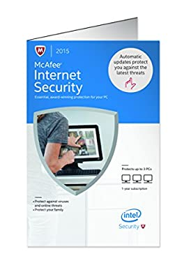 McAfee 2015 Internet Security 3 PC (3-Users)