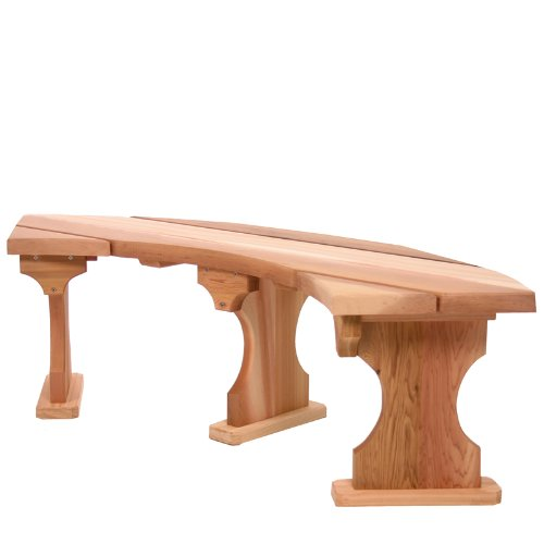 Cedar Quarter Round (All Things Cedar QR60U Quarter Round Bench)
