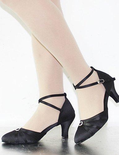 ShangYi Customizable Women's Dance Shoes Latin/Standard Shoes Satin Customized Heel Black/Purple/Red Purple WVme6b8e