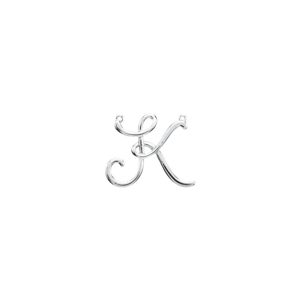 DiamondJewelryNY Sterling Silver K Script Initial