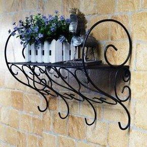 wrought iron stands bathroom shelf wall mount bracket black