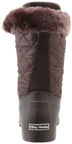 Skittentøy Ved Chinese Laundry Kvinners Veier Faux Pels-trimmet Boot Mørk Brun