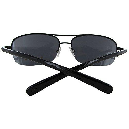 Timberland TB7113-02A Unisex Black Rimless Sunglasses