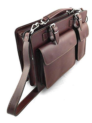 34x25x10 Satchel Bag Misure Valigetta Cuoio Borsa Zerimar Cm Messenger Vintage Pelle Tracolla wx1qFzX4