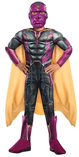 [Rubie's Costume Avengers 2 Age of Ultron Child's Deluxe Vision Costume, Medium] (Ultron Halloween Costumes)