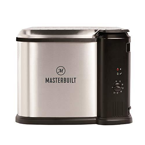 Masterbuilt MB20012420 Electric Fryer Boiler, Steamer, 10 Liter, Silver