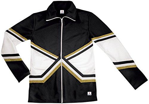Chassé Metallic Crossover Jacket For Cheerleading - Black/Gold Medium