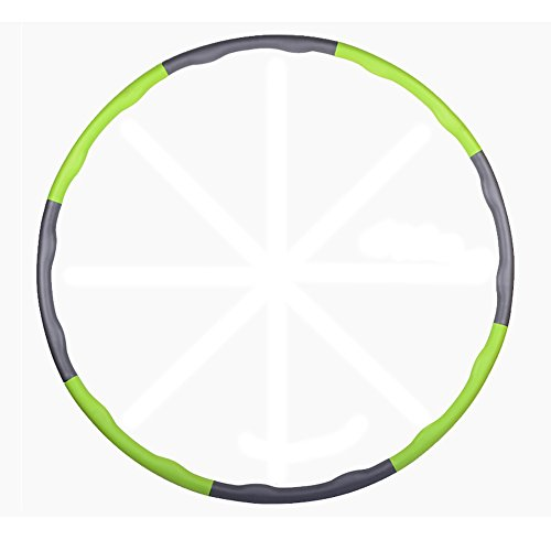 Paladineer Adjustable Hula Hoop Foam Padded for Exercise Fitness Sport Green