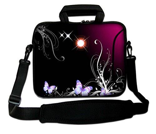 33cm Zoll Design Laptop Notebook Sleeve Tasche (Weich, mit Griff und Schultergurt