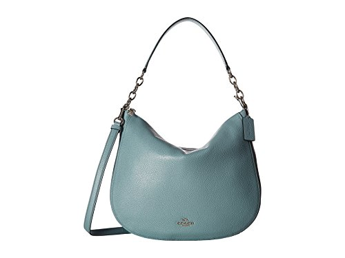 Coach Women's Polished Pebbled Leather Chelsea 32 Hobo Sv...