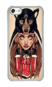 Apple Iphone 5C Case,WENJORS Adorable Red Riding Hood Hard Case Protective Shell Cell Phone Cover For Apple Iphone 5C - PC Transparent
