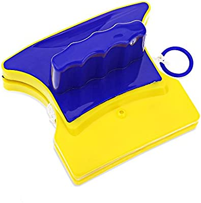 Práctico magnético ventana limpiador de doble cara de cristal limpiaparabrisas superficie útil cepillo