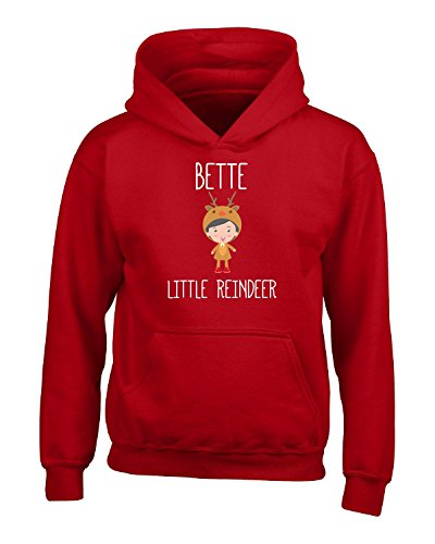 Price comparison product image Bette Little Reindeer Christmas - Girls Hoodie Kids Xl Red