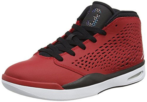 Jordanien Nike Mens Flight 2015 Basket Sko 601-gym Röd Vit Svart