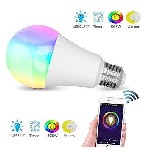 Bombilla Smart LED WiFi Multicolor. Control mediante APP, Compatible con Alexa, App Store, Google Play. E27 60W RGBW equivalente 9W: Amazon.es: Iluminación