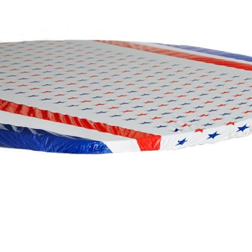 Kwik-Cover 60-Patriotic 60'' Round Kwik-Cover-Patriotic Fitted Table Cover (1 full case of 100)