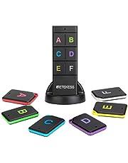 Retekess TH104 buscador de llaves, localizador de artículos inalámbrico, sonido de pitido de 85 dB, control remoto, rango de trabajo de 150 pies, 6 receptores para mascotas, cartera, seguimiento de llaves