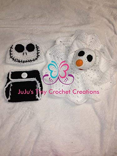 disney nightmare before christmas inspired baby bundle gift set zero lovey security blanket jack