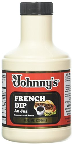 Johnny's French Dip Concentrated Au Jus Sauce, 8-Ounce Jugs (Pack of 6) (Rolls Beef Savory)