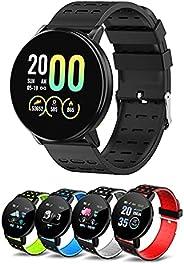 Relogio Smartwatch, Smart Watch 119S Homens Mulheres Pressão Arterial À Prova D 'Água Esporte Redondo Smar
