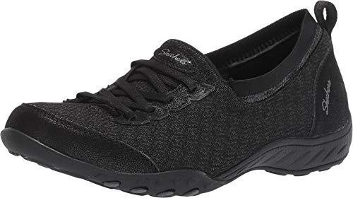 Skechers Relaxed Fit Breathe Easy I'm Dreaming Womens Slip On Sneakers Black 8
