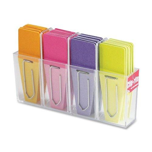 Clip-rite Clip-Flags Solid O/P/P/L 9 Clip-Tabs per color Dispenser included 36 pieces (CRT-028)