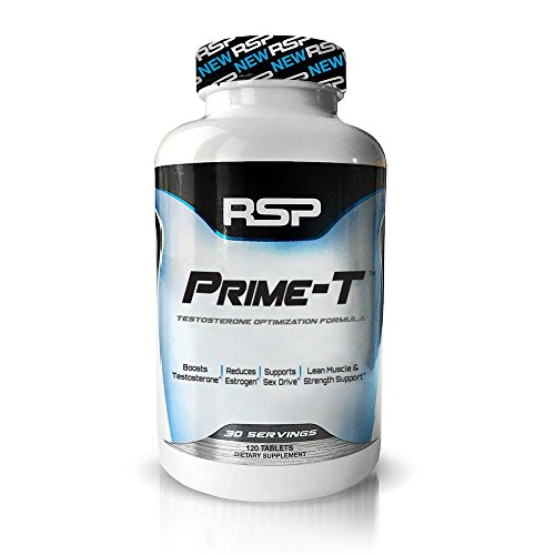 RSP Testosterone Booster Pills Prime T to Increase Free Testosterone, Lean Muscle Growth, Strength, Stamina and Sleep Support* - 30 Servings (1-Month Supply)