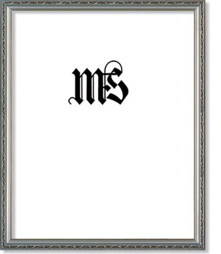 MyFrameStore 16x20 Imperial Wooden Picture Frames - Antique Silver Color | Exclusive Floral Design for Wedding, Hallway, Bedroom, Living Room & Office Décor Wall Photo Frame & Wall Mounting Material,