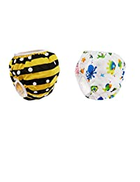 Baoblaze 2Pcs Baby Cartton Swim Diapers Reuseable Washable & Adjustable for Swimming Lesson