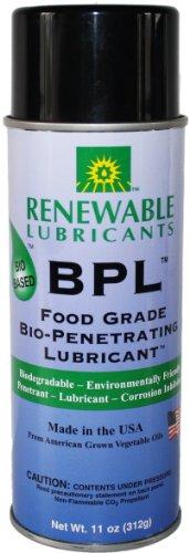 Renewable Lubricants Food Grade Bio-Penetrating Lubricant, 11 oz Aerosol (Renewable Lubricants Bio Food)