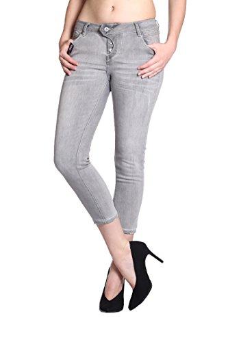 Uni Jeans Capri Jeans Femme Blue Gris Monkey BIxZqIwH