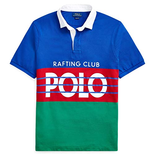 Polo Ralph Lauren Mens Hi Tech Rafting Club Polo Shirt Short Sleeve (Large, Multi Color)