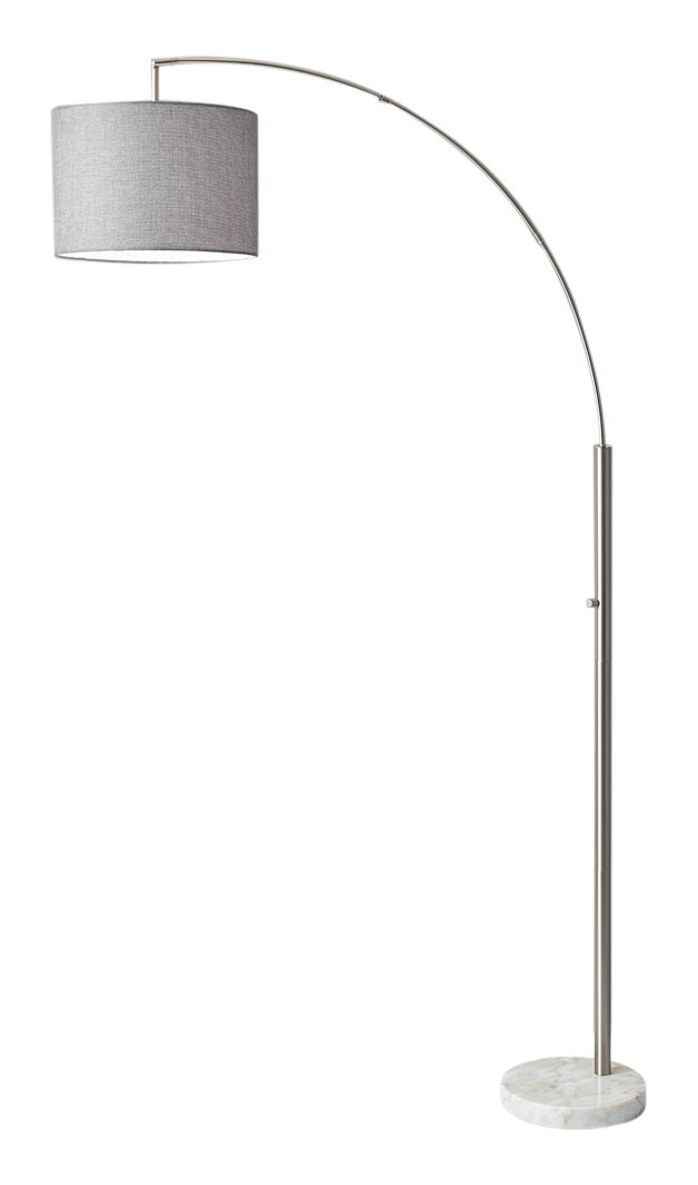 Adesso 4249-22 Bowery Arc Lamp, Steel, Smart Outlet Compatible, 73.5''