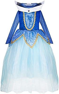 Katara 1772 - Disfraz de Princesa Aurora Bella Durmiente - Niñas 3 ...