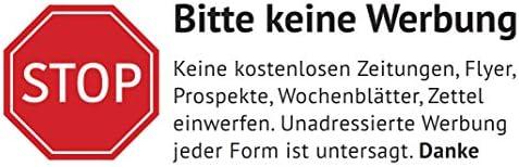 Keine Werbung Aufkleber In Weiss Schild Folie Sticker Stop Bitte Keine Kostenlose Zeitung Reklame Flyer Werbung Einwerfen Für Den