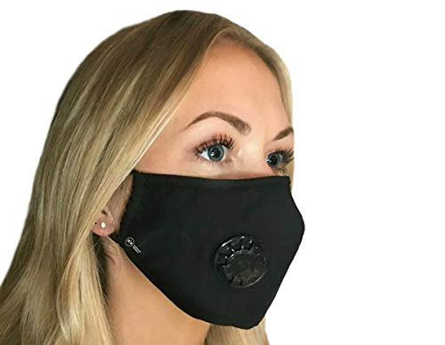Pollution Mask Military Grade Anti Air Dust and Smoke Pollution Mask with Adjustable Straps and a Washable Respirator Mask Made For Men Women and Kids N99 N95 Mask … (Black Mask)
