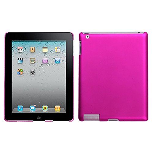 Titanium Solid Hot Pink Back Protector Faceplate Cover For APPLE iPad 2, The new iPad