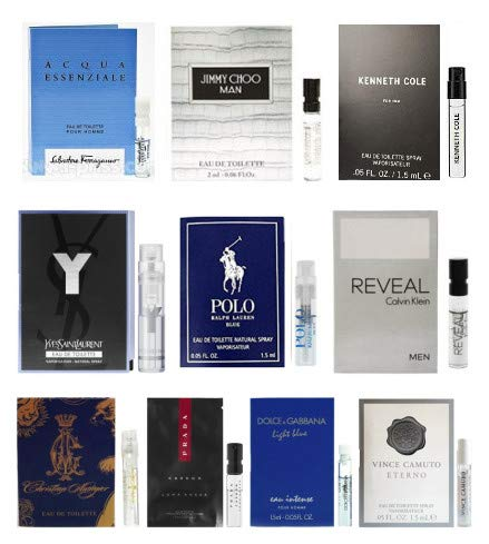 10 Mens Cologne Sample Vials All High End