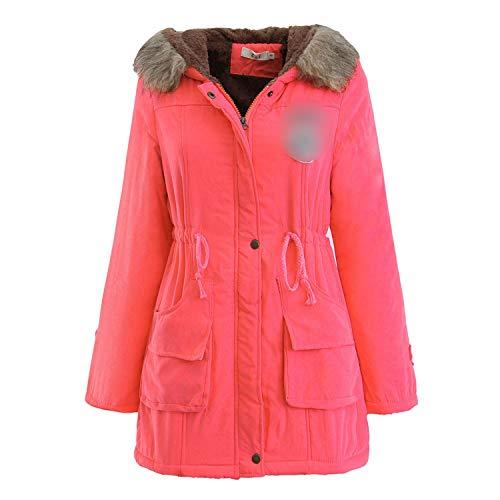 Pinzon Print (Enjoy-Sexy Plus Size Winter Jacket Long Coat Women 2018 Solid Print Hooded Jackets Parka Blouses,Watermelon Red,XL,)