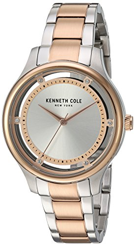 Kenneth Cole New York Women's 'Transparency' Quartz Stainless Steel Dress Watch, Color:Two Tone (Model: 10030798)