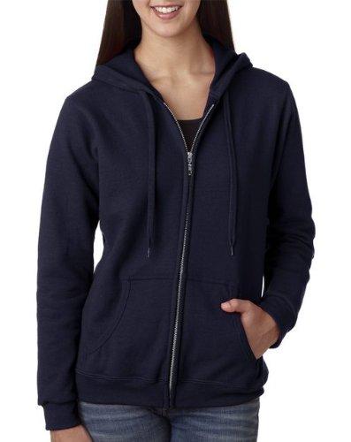 Blue Zip Hooded Sweatshirt (Gildan Women's Heavy Blend Full-Zip Hooded Sweatshirt, Large, Navy)