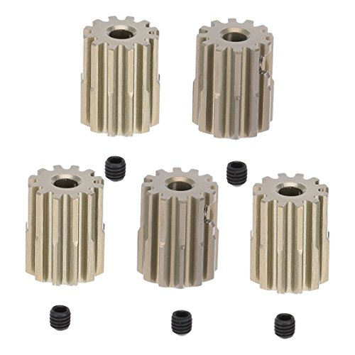 TOOGOO(R) 5Pcs 32DP 3.175mm 12T Pinion Motor Gear for 1/10 RC Car Brushed Brushless Motor