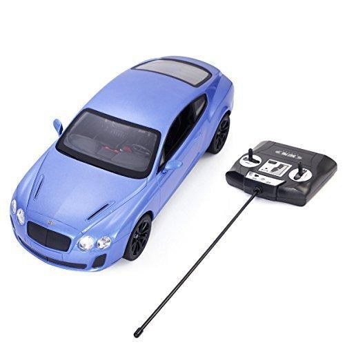 Safstar 1/14 4CH Radio Remote Control Bentley Continental GT Supersports Model Car (Blue) (Bentley Model Car compare prices)